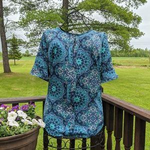 Stunning paisley blouse by Van Heusen, size L
